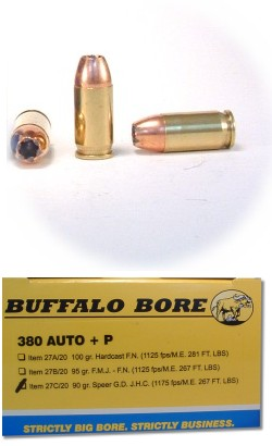 380 Auto +P Pistol & Handgun Ammunition