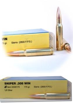 Sniper 308 Winchester Rifle & Gun Ammunition