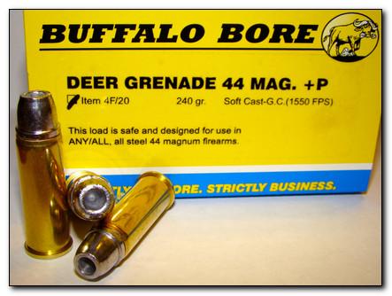 Deer Grenade  44 Magnum +P Pistol & Handgun Ammunition