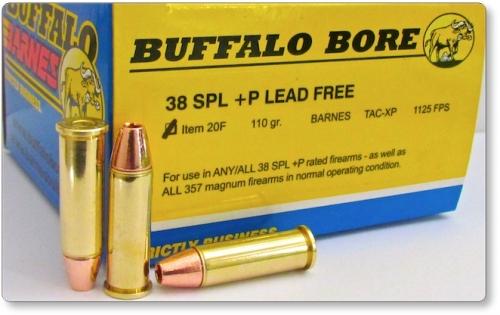 38 Special +P LEAD FREE BARNES Pistol & Handgun Ammunition