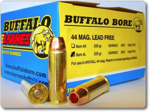 BUFFALO-BARNES LEAD FREE 44 MAG  Pistol & Handgun Ammunition