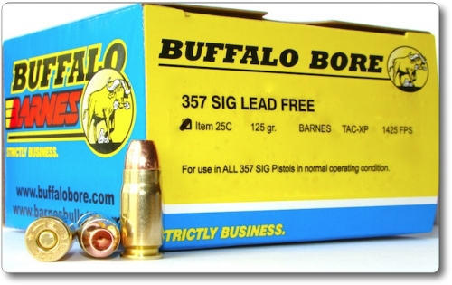 BUFFALO-BARNES 357 SIG LEAD FREEPistol & Handgun Ammunition