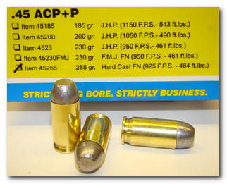45 ACP +P Pistol & Handgun Ammunition