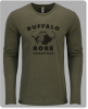 Large-Logo Long Sleeve Crew-Military Green