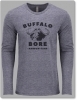 Large-Logo Long Sleeve Crew-Heather Grey